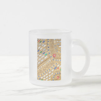 golden  jewellery 10 oz frosted glass coffee mug