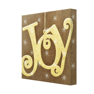 Golden Joy Christmas Canvas Print