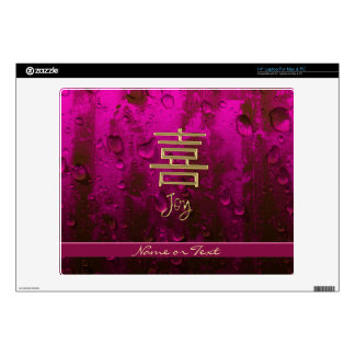 "Golden Joy on Shimmering Crimson Decal For 14"" Laptop"