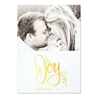 Golden Joy Photo Holiday Card
