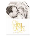 Golden Joy Photo Holiday Card Custom Invites
