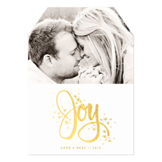Golden Joy Photo Holiday Card Custom Invites