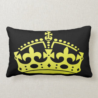 Golden Jubilee Crown Lumbar Pillow