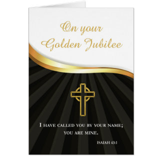 Golden Jubilee of Religious Life, 50 Year Annivers Card