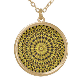 Golden Kaleidoscope Gold Plated Necklace
