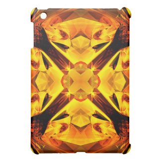Golden Kaleidoscope iPad Mini Cases