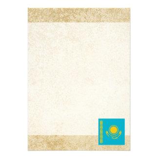 "Golden Kazakhstan Flag 5"" X 7"" Invitation Card"