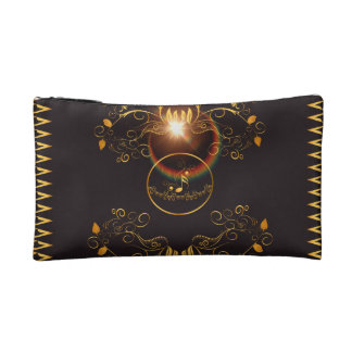 Golden key notes cosmetic bag