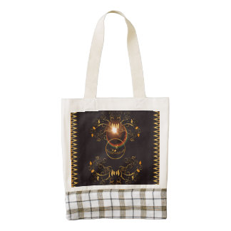 Golden key notes zazzle HEART tote bag