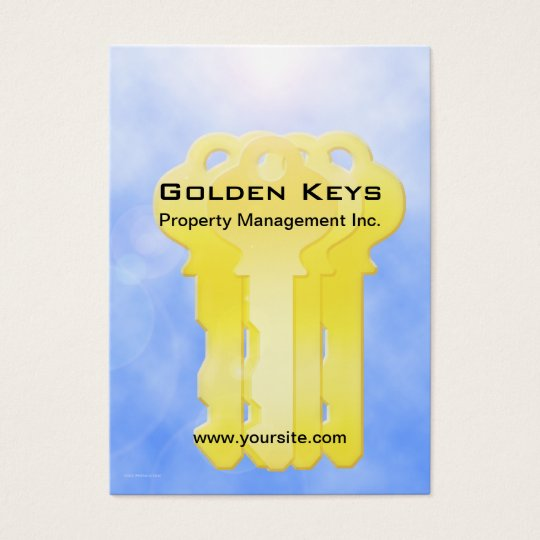 Golden Keys Property Management Business Card