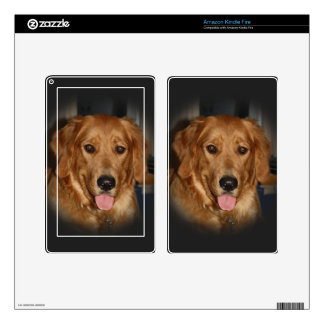 Golden Kindle Fire Decal