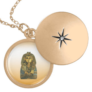 Golden King Tut Gold Plated Necklace