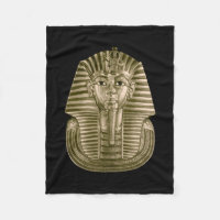 Golden King Tut Small Fleece Blanket