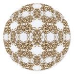 Golden Knotwork Classic Round Sticker