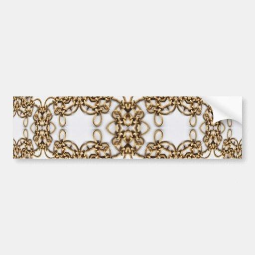 Golden Knotwork Kaleidoscope Mandala Bumper Sticker