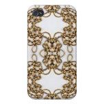 Golden Knotwork Kaleidoscope Mandala iPhone 4 Cover
