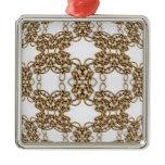 Golden Knotwork Kaleidoscope Mandala Metal Ornament