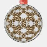 Golden Knotwork Kaleidoscope Mandala Ornament