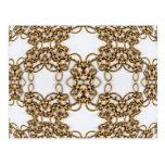 Golden Knotwork Kaleidoscope Mandala Postcard