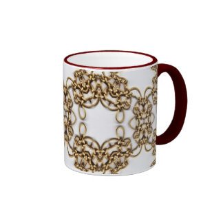 Golden Knotwork Ringer Coffee Mug