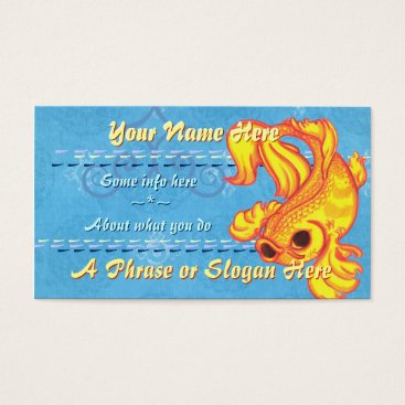 Professional Business Golden Koi Business Cards