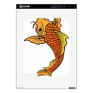 Golden Koi Fish Skins For The iPad 2