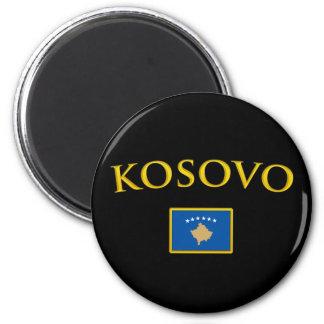 Golden Kosovo 2 Inch Round Magnet