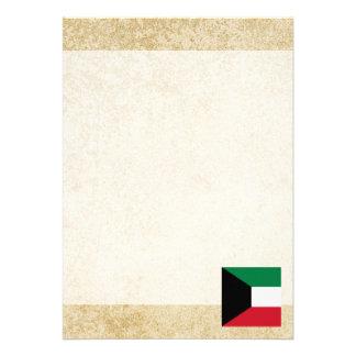"Golden Kuwait Flag 5"" X 7"" Invitation Card"