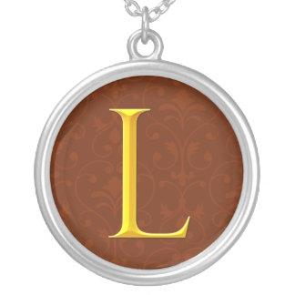 Golden L Monogram Pendant