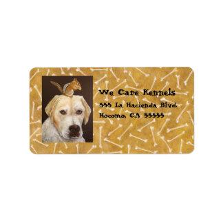 golden lab/chipmunk address labels