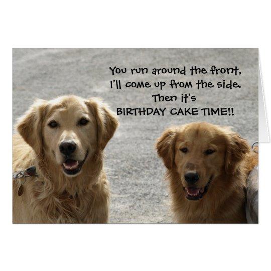 Golden Lab Friends Birthday Card – Birthday Card from Dog