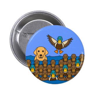 Golden Lab in the Ducks Pinback Button