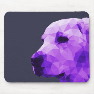 Golden Lab Low Poly Art in Purple Mouse Pad