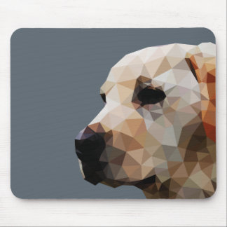 Golden Lab Low Poly Art Mouse Pad