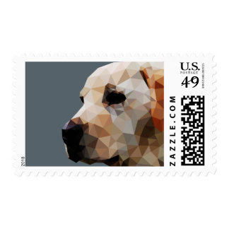 Golden Lab Low Poly Art Postage