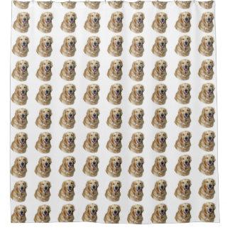 Golden Labrador dog pattern Shower Curtain