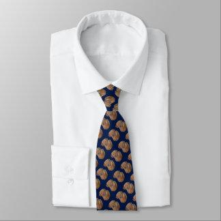 golden labrador dog portrait realist art blue neck tie
