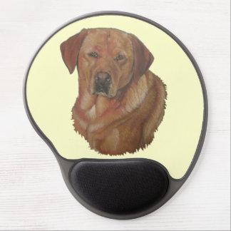 golden labrador dog portrait realist art gel mouse pad