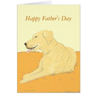 Golden Labrador Father's Day card