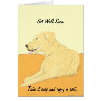 Golden Labrador Get Well Soon Card