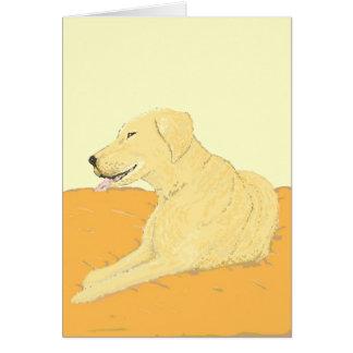 Golden Labrador on a Cushion Cards