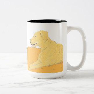 Golden Labrador on a Cushion Mug