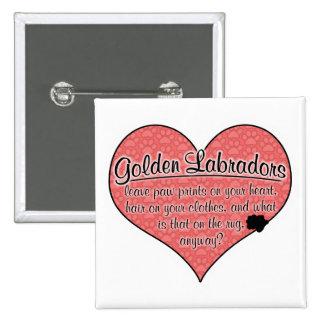 Golden Labrador Paw Prints Dog Humor Pins