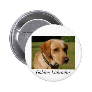 Golden Labrador Pinback Button