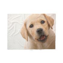 Golden Labrador Puppy Fleece Blanket