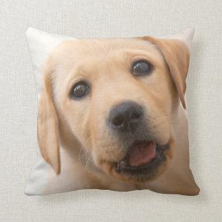 Golden Labrador Puppy Throw Pillow