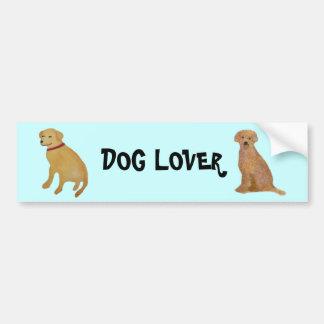 Golden Labrador Retriever Bumper Sticker Car Bumper Sticker