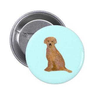 Golden Labrador Retriever Button