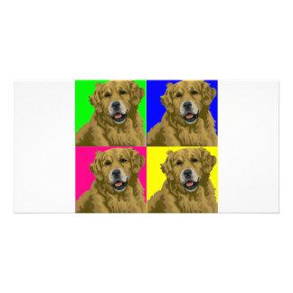 Golden Labrador Retriever Collage Card