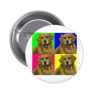 Golden Labrador Retriever Collage Pins